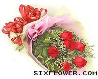 幸福湾花艺9枝玫瑰/简单的爱