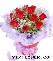 黄江镇宝宝花店11支红玫瑰/一心一意的爱你