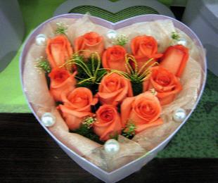 瑞安花落你家鲜花店11支玫瑰花盒/温馨相伴