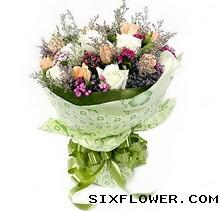 嫣然花卉18枝玫瑰/爱慕