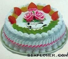 10寸水果蛋糕/生日快乐沁香花艺