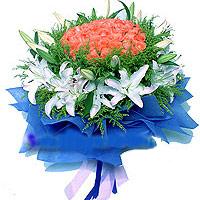 紫银花坊33支粉玫瑰/爱你