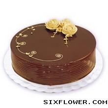 8寸巧克力蛋糕/思念上海松江区心怡花店