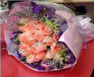 理想的风帆_19支粉玫瑰花无缺XIAN花店