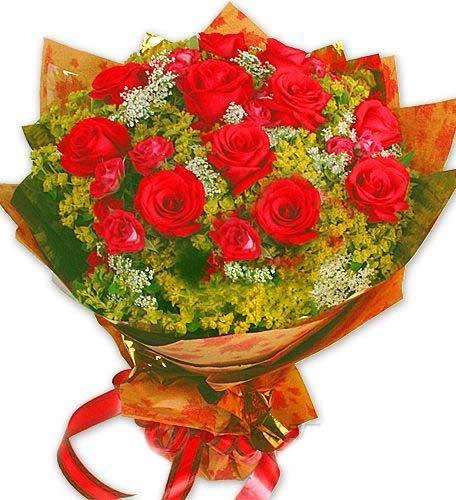唯美花艺不感表白的爱_11支红玫瑰