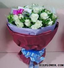 19枝白玫瑰/珍惜富阳百草园花艺