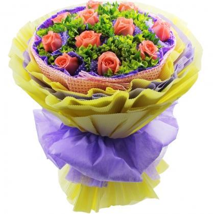 11支粉玫瑰/疯狂爱情紫云阁鲜花店