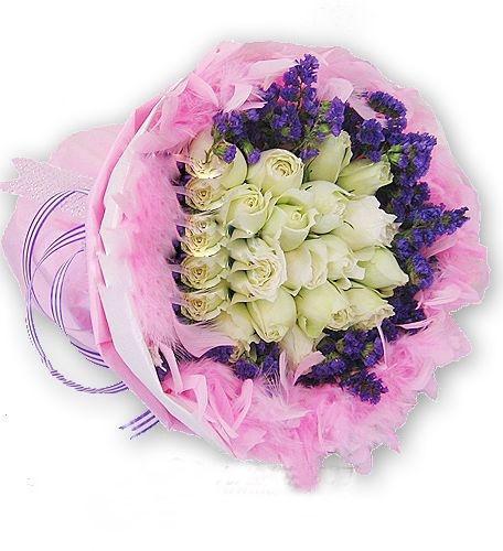 大连香朵花艺19支白玫瑰_永如最初