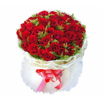 贴心花坊光明新区店情人节快乐/33支玫瑰