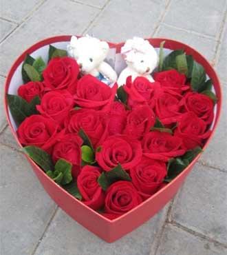 19支红玫瑰/永远珍藏杭州珊珊花店