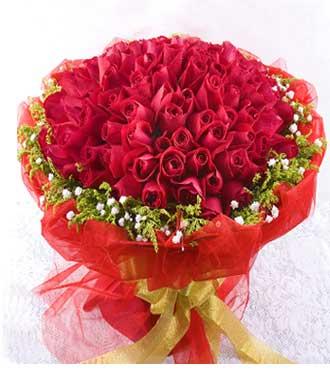 99支红玫瑰/甜蜜温州瓯海沙仑鲜花店