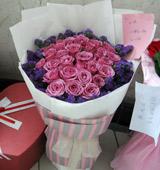 胶南情之源紫气东来/33支紫玫瑰