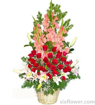 魅力的节日,芬芳的爱/花篮武汉绮梦鲜花