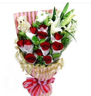 爱永久鲜花深深的暗恋你/13支玫瑰