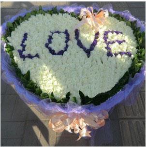 每分每秒陪你/365枝白玫瑰上海松江好选择花店