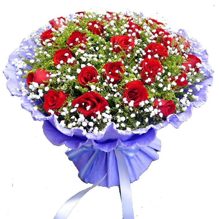 拥抱思念/33支红玫瑰十里桃花花坊