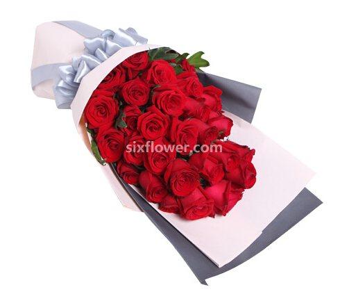 花生活花店红玫瑰29支/千山万水陪你一起走过