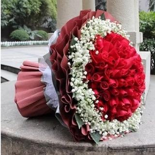 99支红色玫瑰/浪漫的色彩温州168鲜花