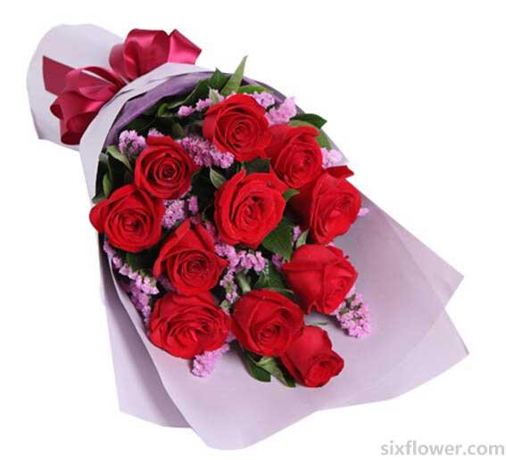 仁和花卉红玫瑰11支/痴情依托