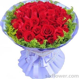 望城兰亭花坊天长地久/52支红玫瑰