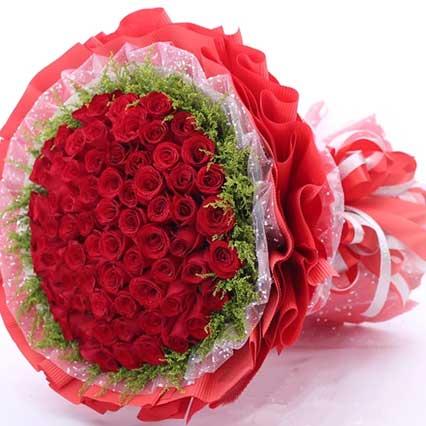 永恒不变/66支红玫瑰Mico米可花艺