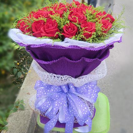 青年城花芊谷爱妻/27枝红玫瑰