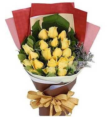 蒲江花房幸福的人/黄玫瑰19支