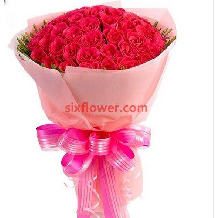 99支红玫瑰/永远等着你花艺美花店