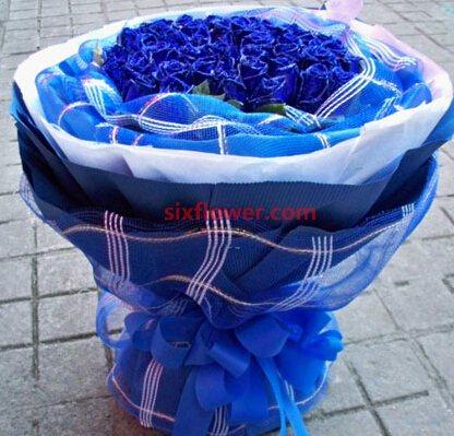 心雨花行爱是不朽传奇/33枝蓝玫瑰