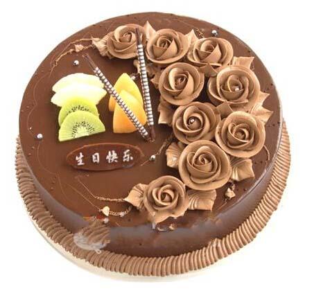巧克力蛋糕/爱你爱不完宝山彩云花艺