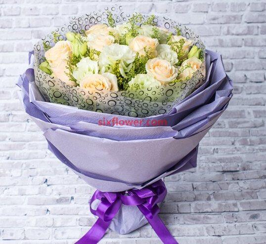 一心念你/20支香槟玫瑰深圳花季节