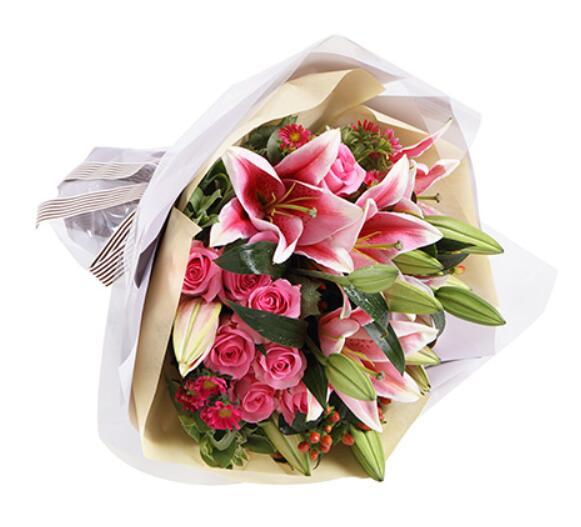 珍藏美好时光/9枝玫瑰4枝百合情缘鲜花速递