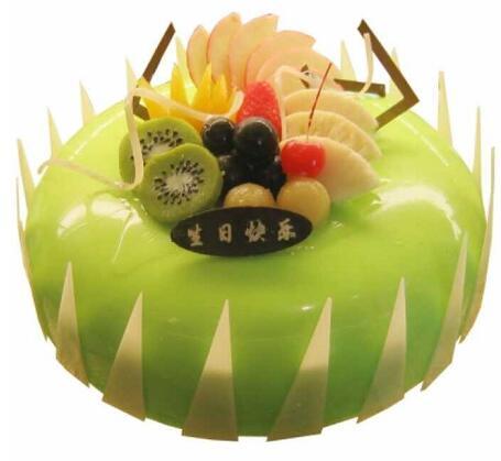 10寸水果蛋糕/时令水果围成一圈花花世界