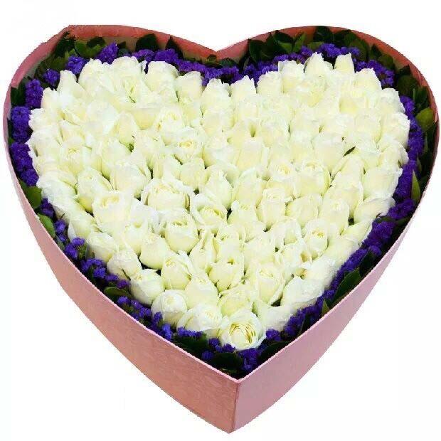 牵挂美丽的你/99只玫瑰礼盒瑞安花落你家鲜花店
