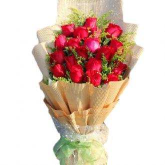 有你相伴/18枝红玫瑰99鲜花坊南岸分店
