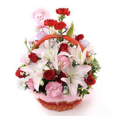 温州瓯海沙仑鲜花店愿快乐与你相伴/精致小花篮