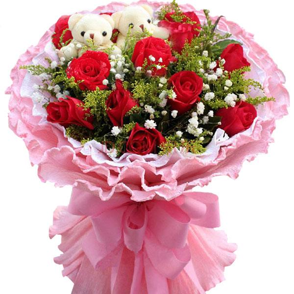 幸福湾鲜花批发部情有独钟/11枝红玫瑰