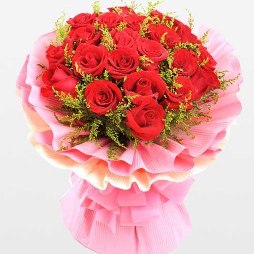 茉莉香花场致美丽的你/21支红玫瑰