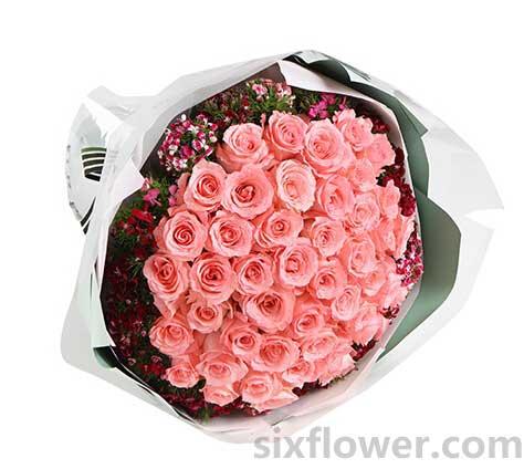 婷婷鲜花店爱的情绪/50支粉玫瑰