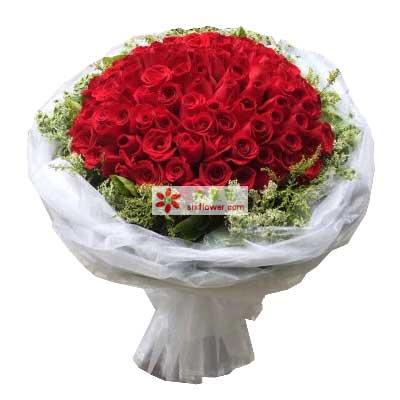 天津百合塘沽店99支红玫瑰/至爱