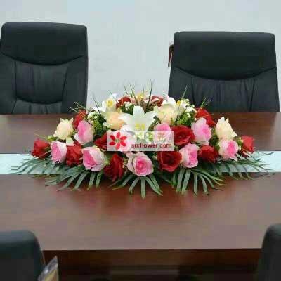 会议桌花8花艺美花店