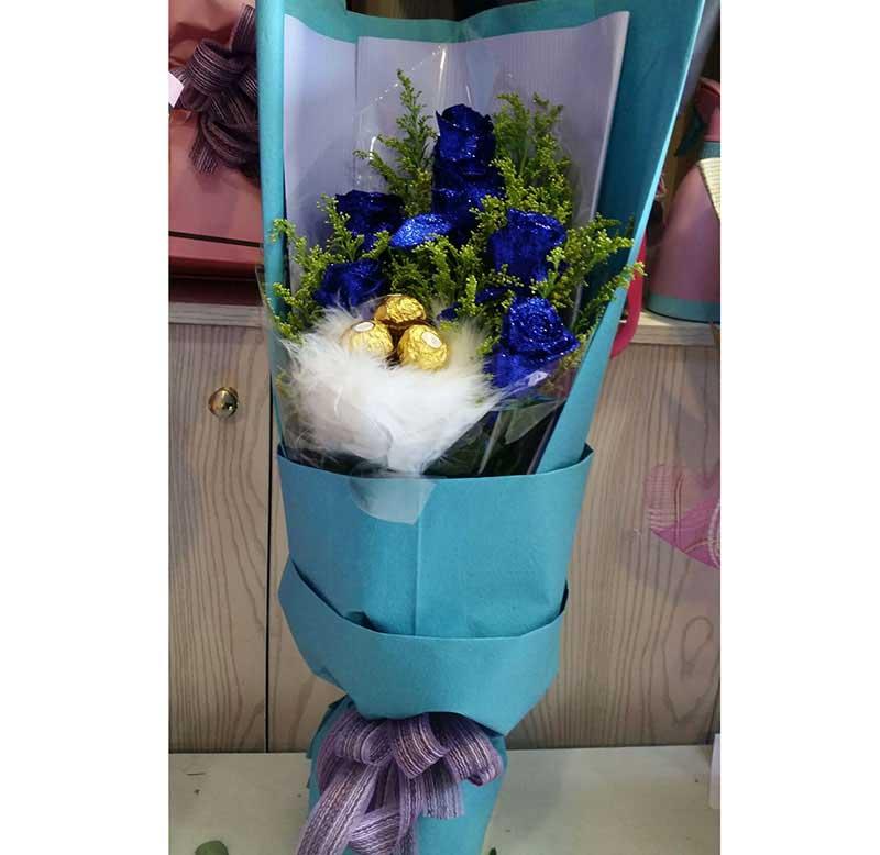 6支蓝玫瑰/清纯的爱灵溪镇爱尚花屋