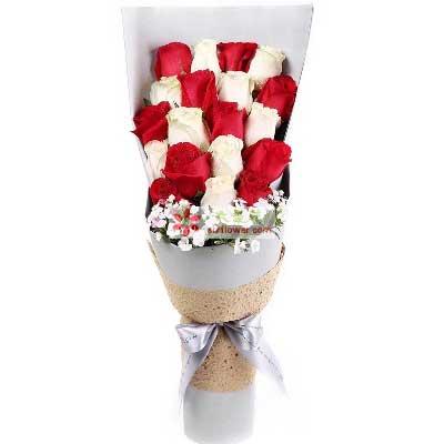 有你就有光彩/19支玫瑰新鲜花艺