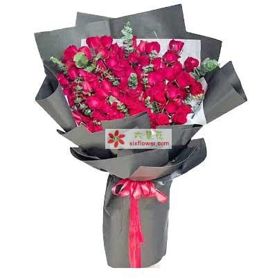 真爱永不改变/66支红色玫瑰情缘花艺婚庆