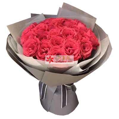 天津百合塘沽店爱是深深的喜欢/红色玫瑰29支