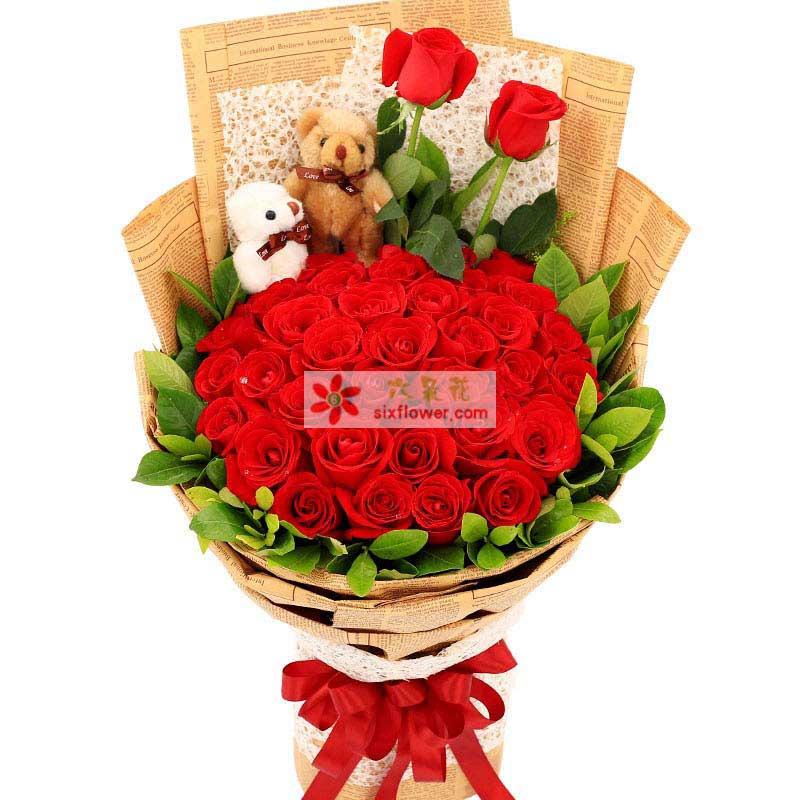 宁波恋人相恋鲜花店用爱温暖你的心/33支红玫瑰