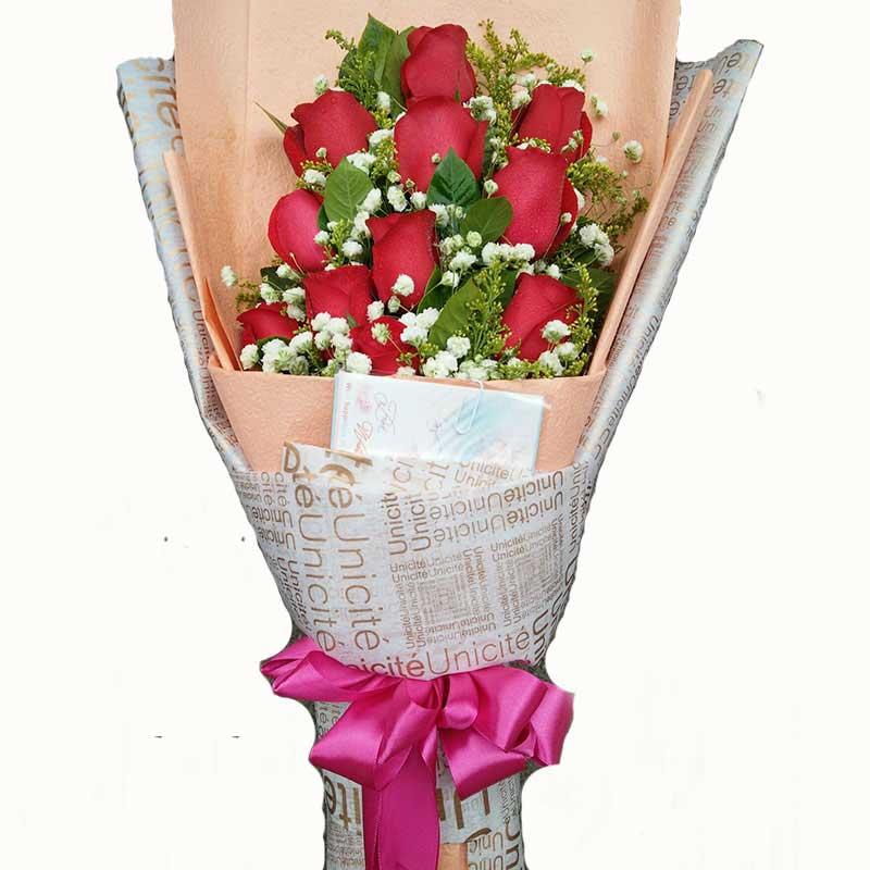 11支红玫瑰/美丽心情Mico米可花艺