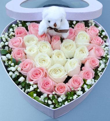 给我个改过的机会/30枝玫瑰礼盒时下姐花房