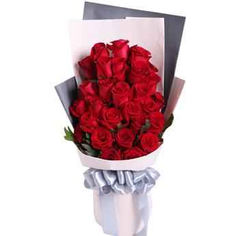 有个人时时关怀着你/红玫瑰29支左左花