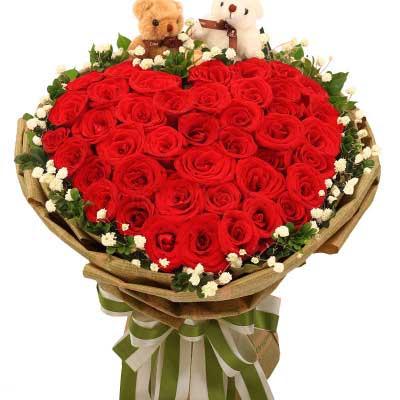 33枝红玫瑰/唯有爱才是真的心雨花行